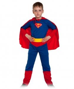 Детский карнавальный костюм Супер-Человек (супермен)/лайт