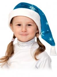 Колпаки новогодние плюш синий