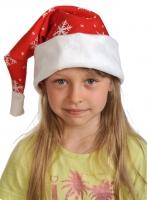 Купить Колпаки новогодние ткань-плюш красный