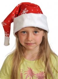 Колпаки новогодние ткань-плюш красный