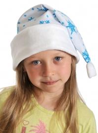 Колпаки новогодние ткань-плюш белый