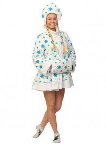 Снегурочка белая мини ткань-плюш для взрослых