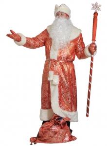 Костюм Дед Мороз для взрослых парча