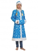 Купить Снегурочка бирюза ткань-плюш для взрослых