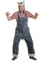 Купить Карнавальный костюм для взрослых плюш Волк