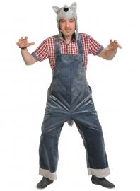 Карнавальный костюм для взрослых плюш Волк