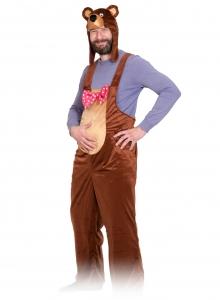 Карнавальный костюм для взрослых из плюша Медведь бурый