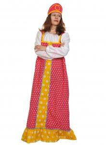 Карнавальный костюм для взрослых Алёнушка в малиновом
