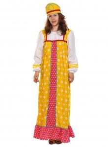 Карнавальный костюм для взрослых Алёнушка в жёлтом