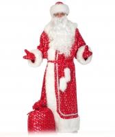 Купить Костюм Дед Мороз для взрослых Красный