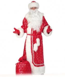 Костюм Дед Мороз для взрослых Красный