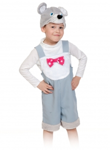 Детский карнавальный костюм Мышонок Серый