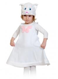 Детский карнавальный костюм Кошечка белая