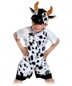 Детский карнавальный костюм Бычок ткань-плюш