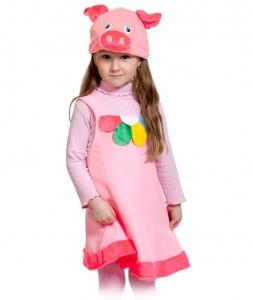 Детский карнавальный костюм Поросюшка плюш
