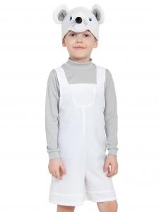 Детский карнавальный костюм Мышонок Белый