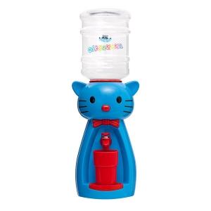 Детский кулер для воды кот Китти синий с красным — АкваНяня
