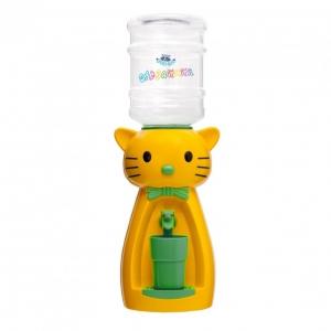 Детский кулер для воды кот Китти желтый с бирюзой — АкваНяня