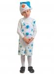 Детский карнавальный костюм из плюша Снеговичок