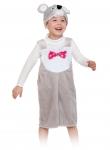 Детский карнавальный костюм из плюша Мышонок Серый