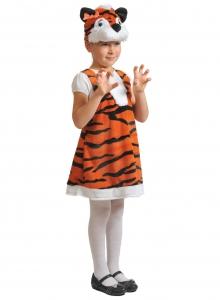 Детский карнавальный костюм из плюша Тигрица