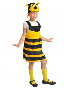 Детский карнавальный костюм из плюша Пчёлка