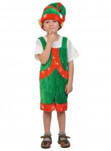 Детский карнавальный костюм из плюша Эльф