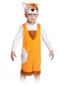 Детский карнавальный костюм из плюша котик рыжий