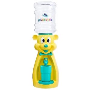 Детский кулер для воды Мышка желтая с бирюзой - АкваНяня