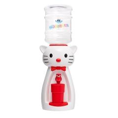 Детский кулер для воды кот Китти белый с красным- АкваНяня