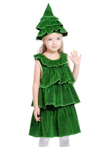 Детский карнавальный костюм Елочка светящаяся
