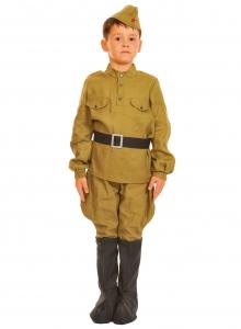 Детский карнавальный костюм Солдатик в сапогах