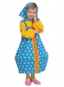 Детский карнавальный костю Матрешка в голубом