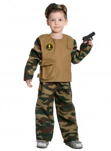 Детский карнавальный костюм Спецназ-1 с пистолетом