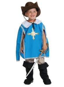 Детский карнавальный костюм Мушкетер синий
