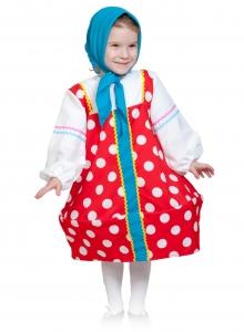 Детский карнавальный костю Матрешка в красном