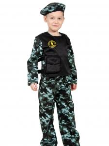 Детский карнавальный костюм Спецназ-3 с пистолетом