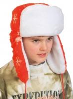 Купить Ушанка новогодняя красная