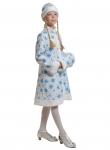 Детский карнавальный костюм СНЕГУРОЧКА ткань-плюш белая