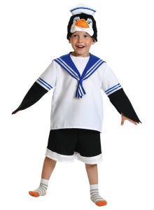 Детский карнавальный костюм из плюша Пингвин Шкипер
