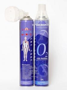 Кислородный баллончик Air-active 17л + кислородная маска