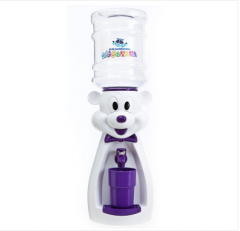 Детский кулер для воды мышка белая с фиолетовым - АкваНяня