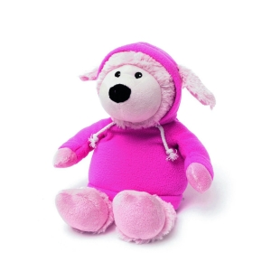 Игрушка-грелка Овечка в худи розовая
