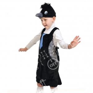 Детский карнавальный костюм из плюша Вороненок