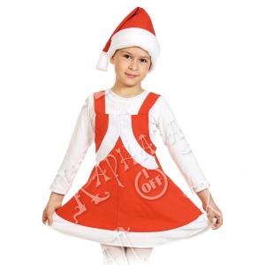 Детский карнавальный костюм Мисс Санта