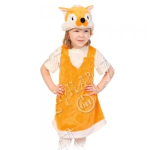 Детский карнавальный костюм из плюша Лисичка
