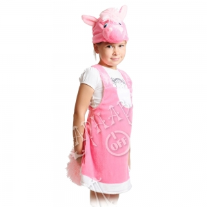Детский карнавальный костюм из плюша Лошадка Роза