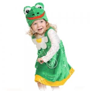 Детский карнавальный костюм из плюша Лягушка