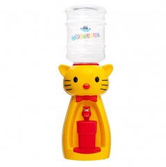Детский кулер для воды кот Китти желтый с красным — АкваНяня