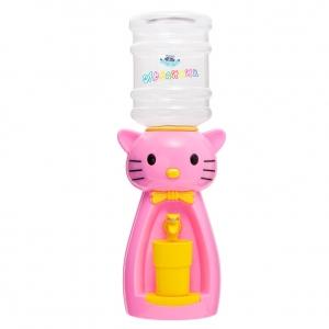 Детский кулер для воды  кот Китти розовый с желтым — АкваНяня